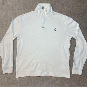 Polo Ralph Lauren White Quarter Zip Sweater